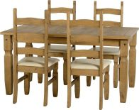 See more information about the Corona 5' Dining Set - DWP/CREAM