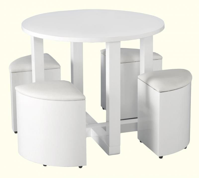 Charisma Stowaway Dining Set White Buy Online At Qd Stores