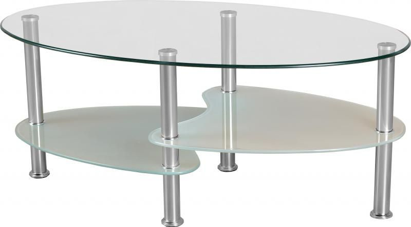 Cara Coffee Table Frosted Glass Silver Buy Online At Qd Stores