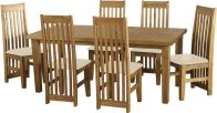 See more information about the Tortilla Dining Set (Distressed Waxed Pine) - Cream