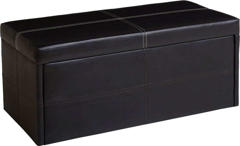 Unity Ottoman Storage Stool - EXPRESSO BROWN - Unity Ottoman Storage Stool - EXPRESSO BROWN - Buy Online At QD Stores