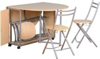 See more information about the Budget Butterfly Dining Set - BEECH/SILVER