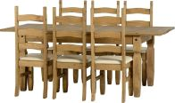 See more information about the Corona Extending Dining Set (1+6) - DWP/CREAM