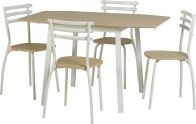 See more information about the Langley Drop Leaf Dining Set - BEECH/WHITE