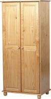 See more information about the Sol 2 Door Wardrobe - ANTIQUE PINE