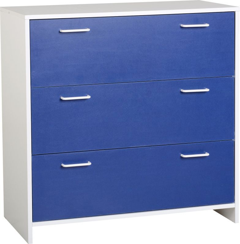 Lollipop 3 Drawer Chest - WHITE/BLUE