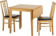 See more information about the Vienna Drop Leaf Dining Set - MEDIUM OAK/BROWN