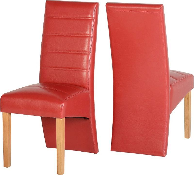 G5 Leather Style Dining Chair - RUSTIC RED