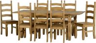 See more information about the Corona Extending Dining Set (1+8) - DISTRESSED WAXED PINE