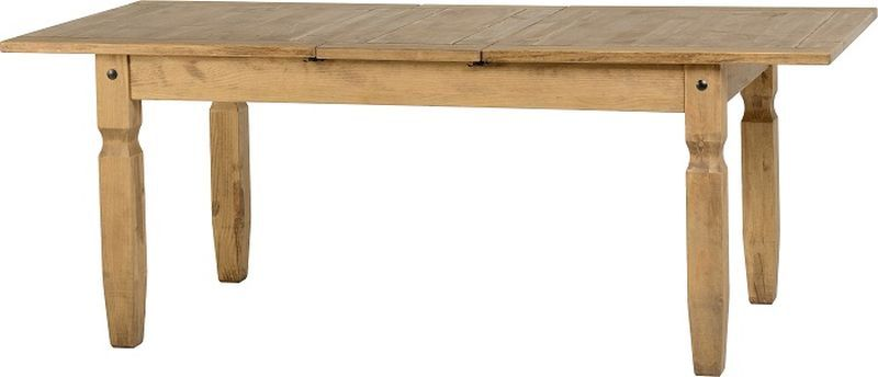 Corona Extending Dining Table - DISTRESSED WAXED PINE