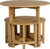 See more information about the Corona Stowaway Dining Set - DISTRESSED WAXED PINE