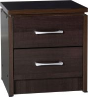 See more information about the Charles 2 Drawer Bedside Chest - WALNUT