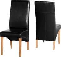 See more information about the G1 Leather Style Dining Chair - BLACK