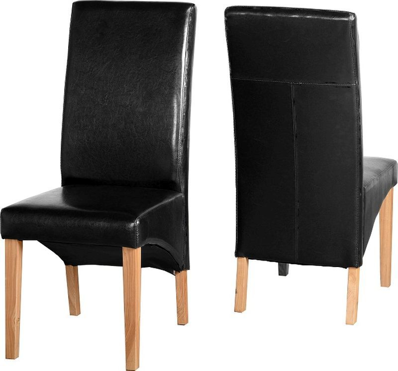 G1 Leather Style Dining Chair - BLACK