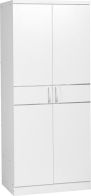See more information about the Jordan 2 Door Wardrobe - WHITE/SILVER