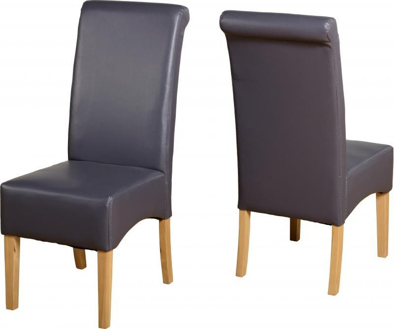 G10 Leather Style Dining Chair - CHARCOAL