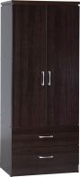 See more information about the Charles 2 Door 2 Drawer Wardrobe - WALNUT