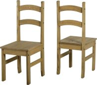 See more information about the Budget Mexican Chair - DISTRESSED WAXED PINE