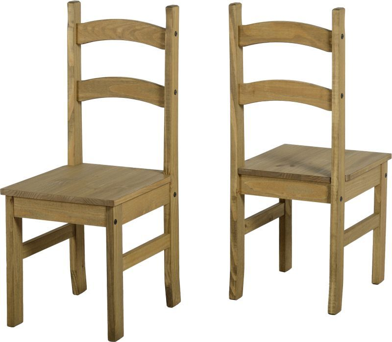 Budget Mexican Chair - DISTRESSED WAXED PINE