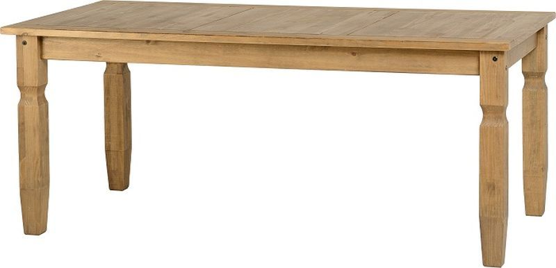 Corona 6' Dining Table - DISTRESSED WAXED PINE