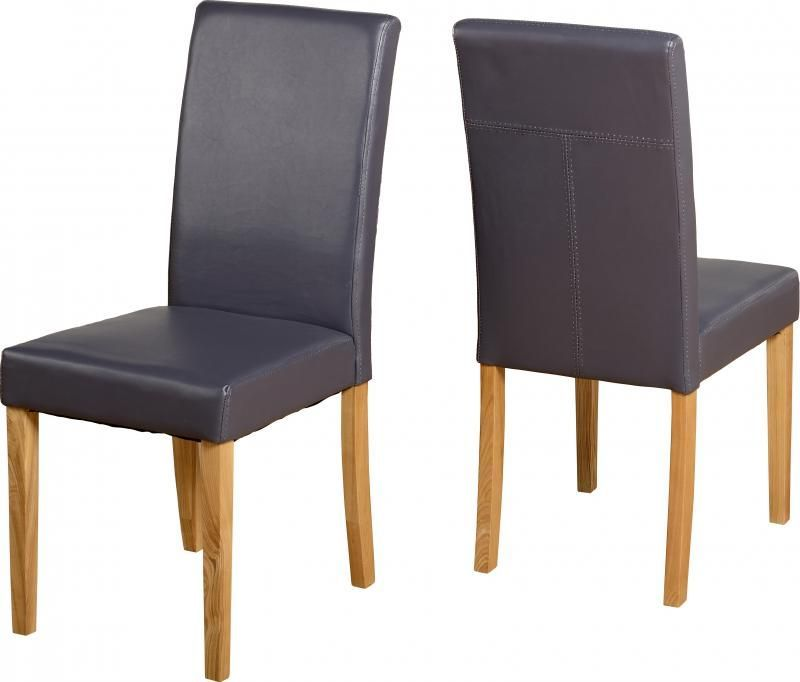 G3 Leather Style Dining Chair - CHARCOAL