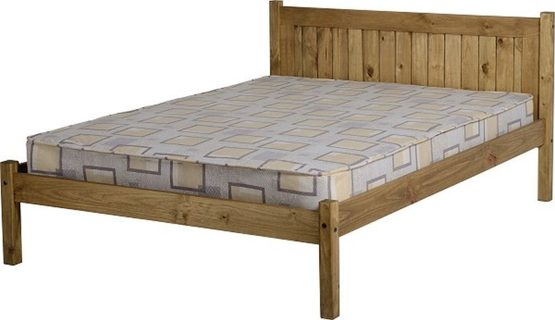 Maya Double Bed - Distressed Waxed Pine
