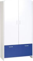 See more information about the Lollipop 2 Door 1 Drawer Wardrobe - WHITE/BLUE