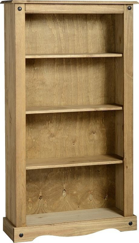 Corona Medium Bookcase - DISTRESSED WAXED PINE