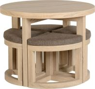 See more information about the Cambourne Stowaway Dining Set - SONOMA OAK
