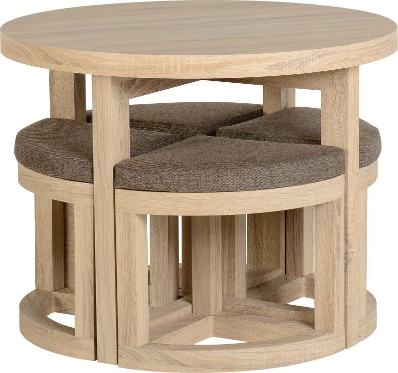 Cambourne Stowaway Dining Set - SONOMA OAK