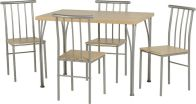 See more information about the Denton Dining Set - BEECH/SILVER