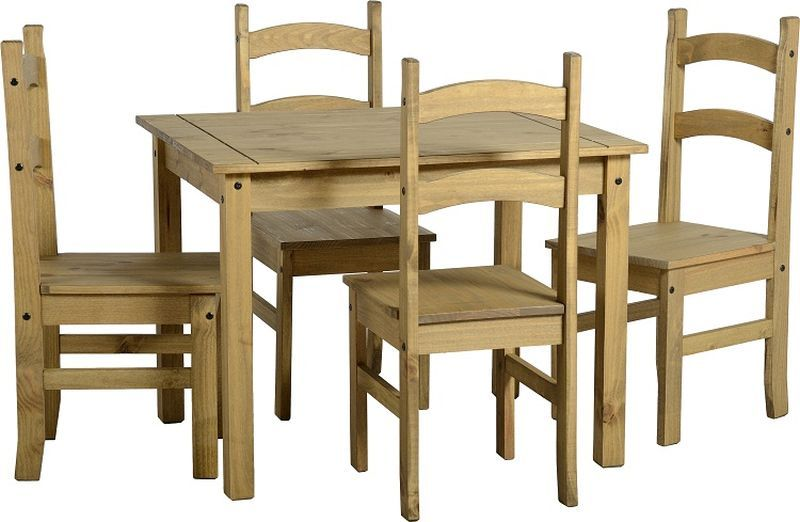Budget Mexican Dining Set - DISTRESSED WAXED PINE