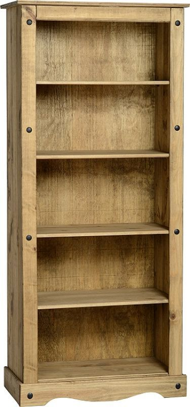 Corona Tall Bookcase - DISTRESSED WAXED PINE