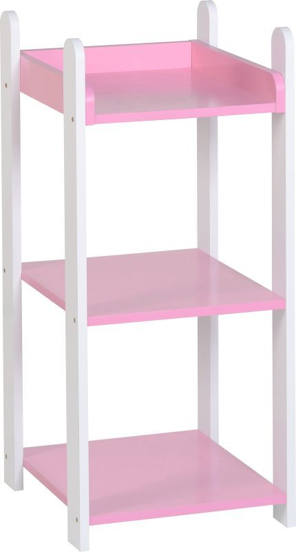 Lollipop 3 Shelf Unit - WHITE/PINK