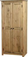 See more information about the Panama 2 Door Wardrobe - NATURAL WAX