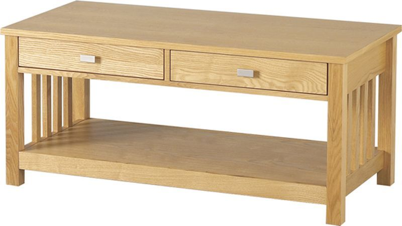 Ashmore 2 Drawer Coffee Table -ASH VENEER