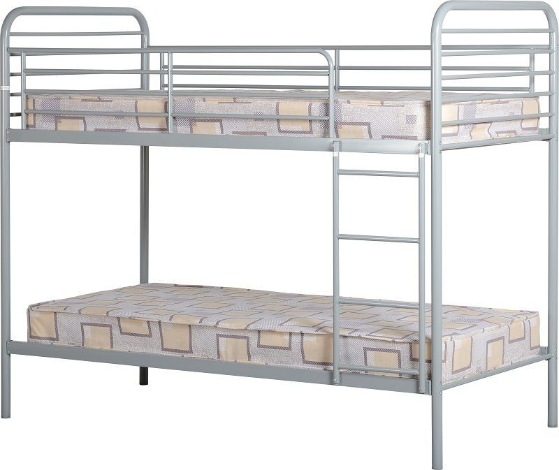 Bradley Budget Single Bunk Bed - Silver