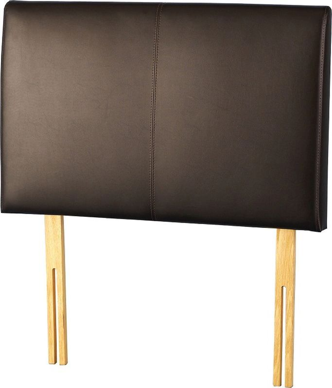 Palermo Leather Style Single Headboard - Expresso Brown
