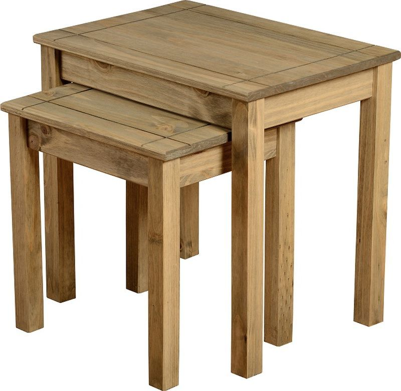 Panama Nest Of 2 Tables - NATURAL WAX