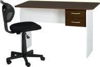 See more information about the Jenny 2 Drawer Study Desk - WENGE/WHITE