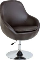See more information about the Austin Swivel Tub Chair - BROWN/CHROME
