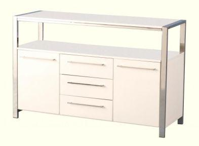 Charisma 2 Door 3 Drawer Sideboard  WHITE GLOSS