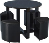 See more information about the Charisma Stowaway Dining Set - BLACK