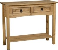 See more information about the Corona 2 Drawer Console Table with Shelf
