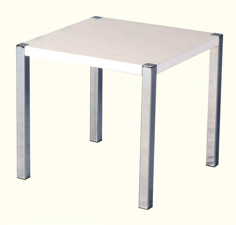 Charisma Lamp Table - WHITE GLOSS