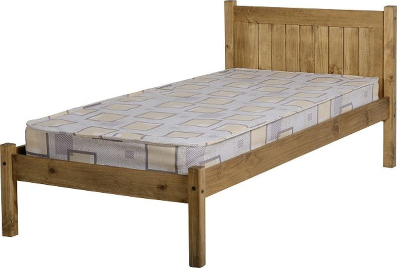 Maya Single Bed - Distressed Waxed Pine
