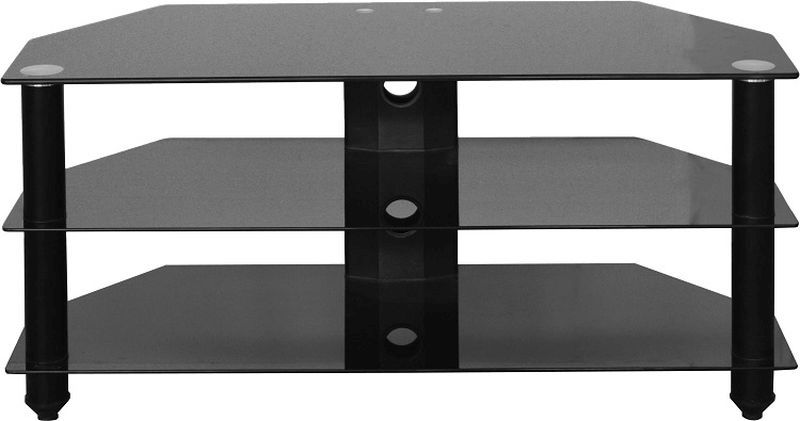 Bromley Glass TV Stand - BLACK