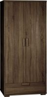 See more information about the Cambourne 2 Door 1 Drawer Wardrobe - DARK SONOMA OAK