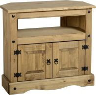 See more information about the Corona Rustic Style Corner TV Cabinet