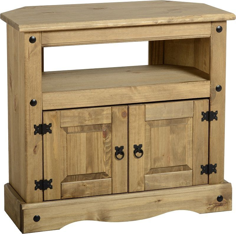 Corona Rustic Style Corner Tv Cabinet Buy Online At Qd Stores